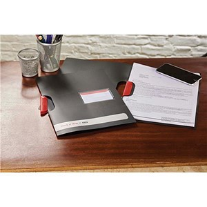 Image of Black n' Red Swing Clip Files - 3 x Pack of 5 - Offer Includes FREE Notebook