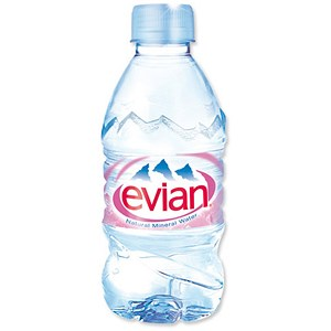Image of Evian Natural Mineral Water - 24 x 330ml Plastic Bottles