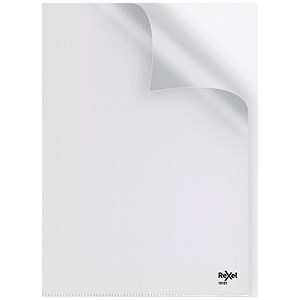 Image of Rexel Nyrex Cut Back Folders / A4 / Clear / Pack of 25