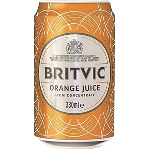 Image of Britvic Orange - 24 x 330ml Cans