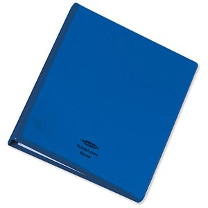 Image of Telephone Index and Address Book Binder with Matching A-Z Index and 20 Sheets / A5 / Blue