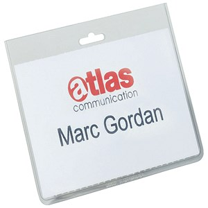 Image of Durable Name Badges Security Without Clip / W90x60mm / Pack of 20