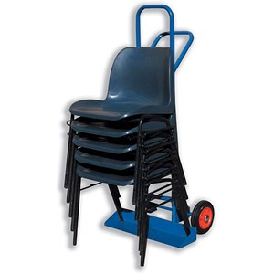 Image of 5 Star Carrying Trolley for Stacking Chairs / Steel Frame / 2 Rubber Wheels