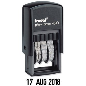 Image of Trodat Printy 4810 Budget Self-inking Mini Dater Stamp - Black
