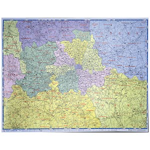 Image of Map Marketing Postal Districts of London Map Unframed 1 Mile/inch W1180x930mm Ref GLPC
