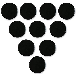 Image of Nobo Round Plastic Magnet Markers / 25mm / Black / Pack of 10