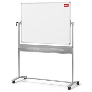 Image of Nobo Mobile Magnetic Whiteboard Easel / Horizontal Pivot / W1200xH900mm