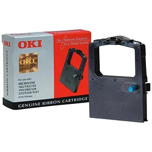 Image of Oki 09002303 Black Ribbon Cassette