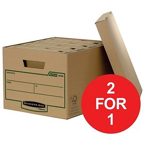 Image of Fellowes Bankers Box Earth Storage Boxes / Standard / Pack of 10 / Buy One Get One FREE
