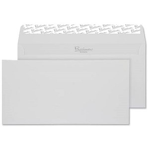 Image of Blake Premium DL Wallet Envelopes / Laid / High White / Peel & Seal / 120gsm / Pack of 500 / 3 packs for the price of 2