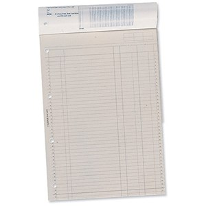 Image of Guildhall Account Pad GP2 / 2 Cash Columns / Ruled 41 Feint / 60 Leaf