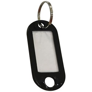 Image of 5 Star Key Hanger Standard with Fob Black [Pack 100]