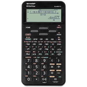 Image of Sharp WriteView Calculator Scientific Battery-power 4-line 335 Functions 2-key Rollover Ref ELW531B