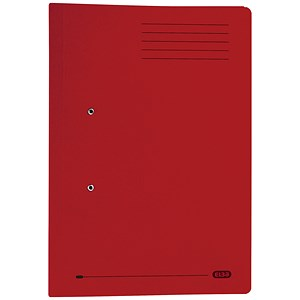 Image of Elba Stratford Transfer Spring File Recycled Pocket 320gsm 36mm Foolscap Bordeaux Ref 100090149 [Pack 25]