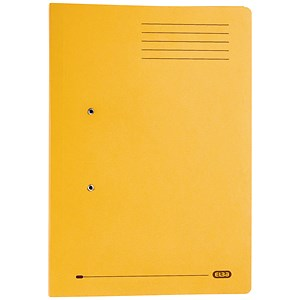 Image of Elba Stratford Transfer Spring File Recycled Pocket 320gsm 36mm Foolscap Yellow Ref 100090150 [Pack 25]