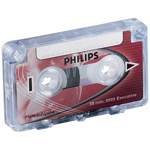 Image of Philips Mini Cassette Dictation 30 Minutes Total 15 per Side Ref 0005 [Pack 10]