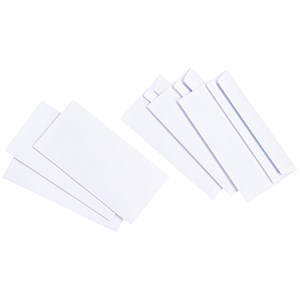 Image of Everyday Plain DL Envelopes / Press Seal / 90gsm / Pack of 1000