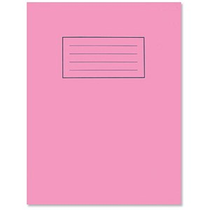 Image of Silvine Plain Exercise Book / 229x178mm / 80 Pages / Pink / Pack of 10