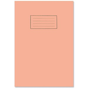 Image of Silvine 5mm Squares Exercise Book / A4 / 80 Pages / Orange / Pack of 10