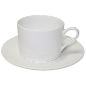 Image of 5 Star Fine Bone China Tea Set / 6 Cups, 6 Saucers / White