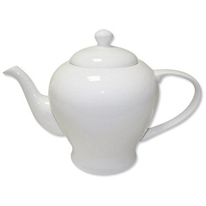 Image of 5 Star Fine Bone China Teapot - White