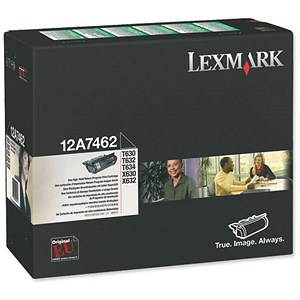 Image of Lexmark 12A7462 Black Laser Toner Cartridge