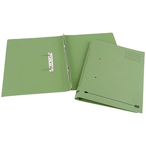 Image of Elba Spirosort Transfer Spring File Recycled 285gsm 35mm Foolscap Green Ref 100090160 [Pack 25]