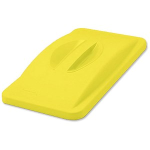 Image of Rubbermaid Slim Jim Lid for General Recycling System - Yellow