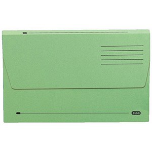 Image of Elba Document Wallet Half Flap 285gsm Capacity 30mm Foolscap Green Ref 100090127 [Pack 50]
