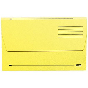 Image of Elba Document Wallet Half Flap 285gsm Capacity 30mm Foolscap Yellow Ref 100090128 [Pack 50]