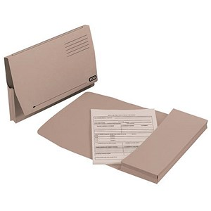 Image of Elba Document Wallet Full Flap 260gsm Capacity 32mm Foolscap Buff Ref 100090130 [Pack 50]