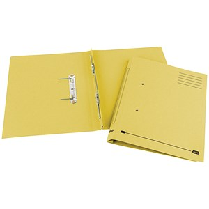 Image of Elba Spirosort Transfer Spring File Recycled 285gsm 35mm Foolscap Yellow Ref 100090163 [Pack 25]
