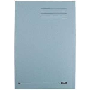 Image of Elba Square Cut Folder Recycled Lightweight 180gsm A4 Blue Ref 100090203 [Pack 100]