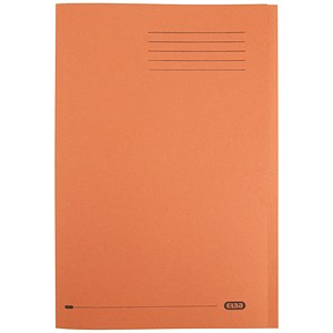 Image of Elba Square Cut Folder Recycled Lightweight 180gsm A4 Orange Ref 100090205 [Pack 100]