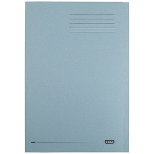Image of Elba Square Cut Folder / Recycled / 290gsm / Foolscap / Blue / Pack of 100