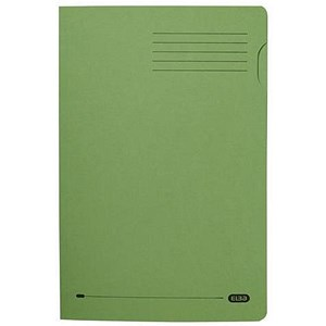 Image of Elba Square Cut Folder / Recycled / 290gsm / Foolscap / Green / Pack of 100