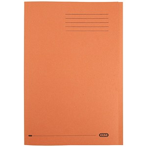 Image of Elba Square Cut Folders / 290gsm / Foolscap / Orange / Pack of 100