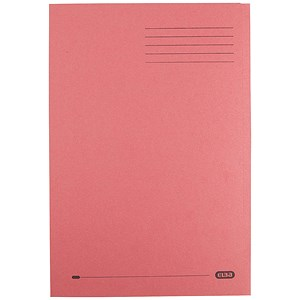 Image of Elba Square Cut Folder Recycled Heavyweight 290gsm Foolscap Red Ref 100090222 [Pack 100]