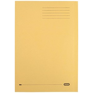 Image of Elba Square Cut Folder / Recycled / 290gsm / Foolscap / Yellow / Pack of 100