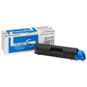 Image of Kyocera TK-590C Cyan Laser Toner Cartridge