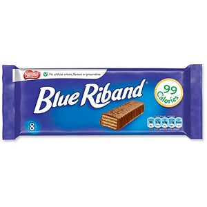 Image of Nestle Blue Riband Milk Chocolate Covered Biscuits / Individually Wrapped / Pack of 8