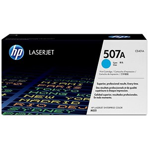 Image of HP 507A Cyan Laser Toner Cartridge