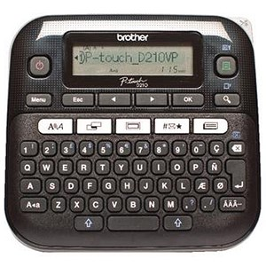 Image of Brother P-Touch Labelmaker Desktop and Case 8 fonts TZE max. 12mm Ref PTD210VP