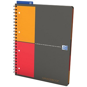 Image of Oxford International Managers Wirebound Notebook / A4+ / Project Ruled / Pack of 5