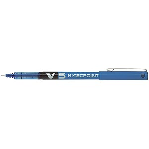Image of Pilot V5 Rollerball Pen / Needle Tip 0.5mm / Line 0.3mm / Blue / Pack of 12