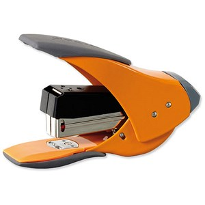 Image of Rexel Easy Touch Quarter Strip Stapler / Capacity: 20 Sheets / Orange