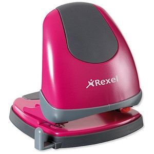Image of Rexel Easy Touch Low Force 2-Hole Punch / Pink / Punch capacity: 30 Sheets