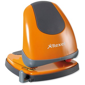 Image of Rexel Easy Touch Low Force 2 Hole Punch / Orange / Punch capacity: 30 Sheets