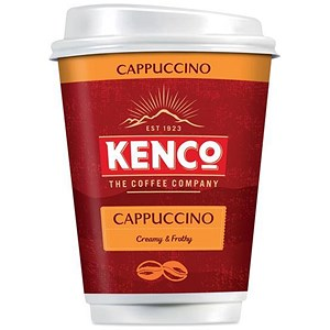 Image of Kenco2Go Instant Cappuccino Coffee Drink in a 12oz (340ml) Cup - Pack of 8