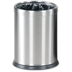 Image of Rubbermaid Hideabag Bin / 13.2 Litres / W241xH318mm / Stainless Steel